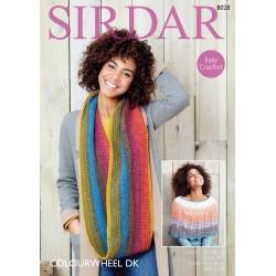Sirdar Colourwheel DK Scarf Pattern 8028
