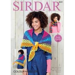 Sirdar Colourwheel DK Shawl Pattern 8029