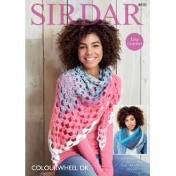 Sirdar Colourwheel DK Shawl Pattern 8030