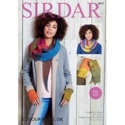 Sirdar Colourwheel DK Shawl Pattern 8031