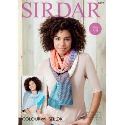Sirdar Colourwheel DK Scarf Pattern 8032