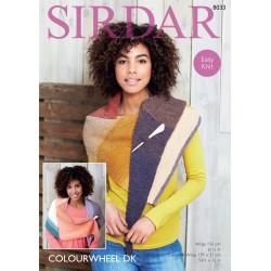 Sirdart Colourwheel DK Shawl Pattern 8033
