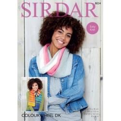 Sirdar Colourwheel DK Scarf Pattern 8034