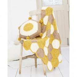Stylecraft Bellissima DK Crochet Blanket Pattern 9614