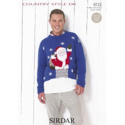 Sirdar Country Style DK Mens Christmas Jumper 9722