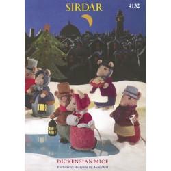 Sirdar Country Style DK Dickensian Mice Pattern 4132