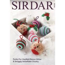 Sirdar Christams Baubles Pattern 8220