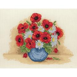 Cross Stitch Kit: Poppy Spray