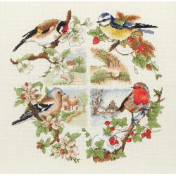 Cross Stitch Kit: Birds & Seasons
