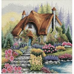 Cross Stitch Kit: Lakeside Cottage
