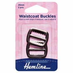 Waistcoat Buckle - Nickel finish