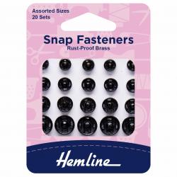 Black Assorted Snaps/Press Studs