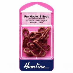 Large Brown Fur Hooks/Eyes