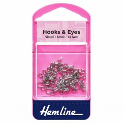 Hook & Eye - Nickel - Size 1