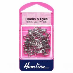 Hook & Eye - Nickel - Size 3