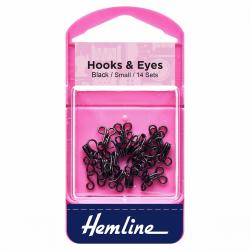Hook & Eye - Black - Size 1