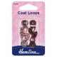 Coat Loops: Bronze/Nickel - Metal - 2pcs
