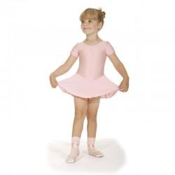 Roch Valley Short Sleeved Dance Leotard with Flared Skirt ISTD