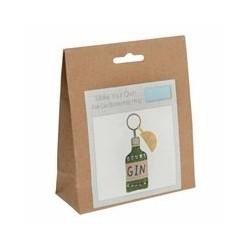Trimits Felt Gin Bottle Keyring Kit