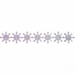 Metallic Snowflake Christmas Trim