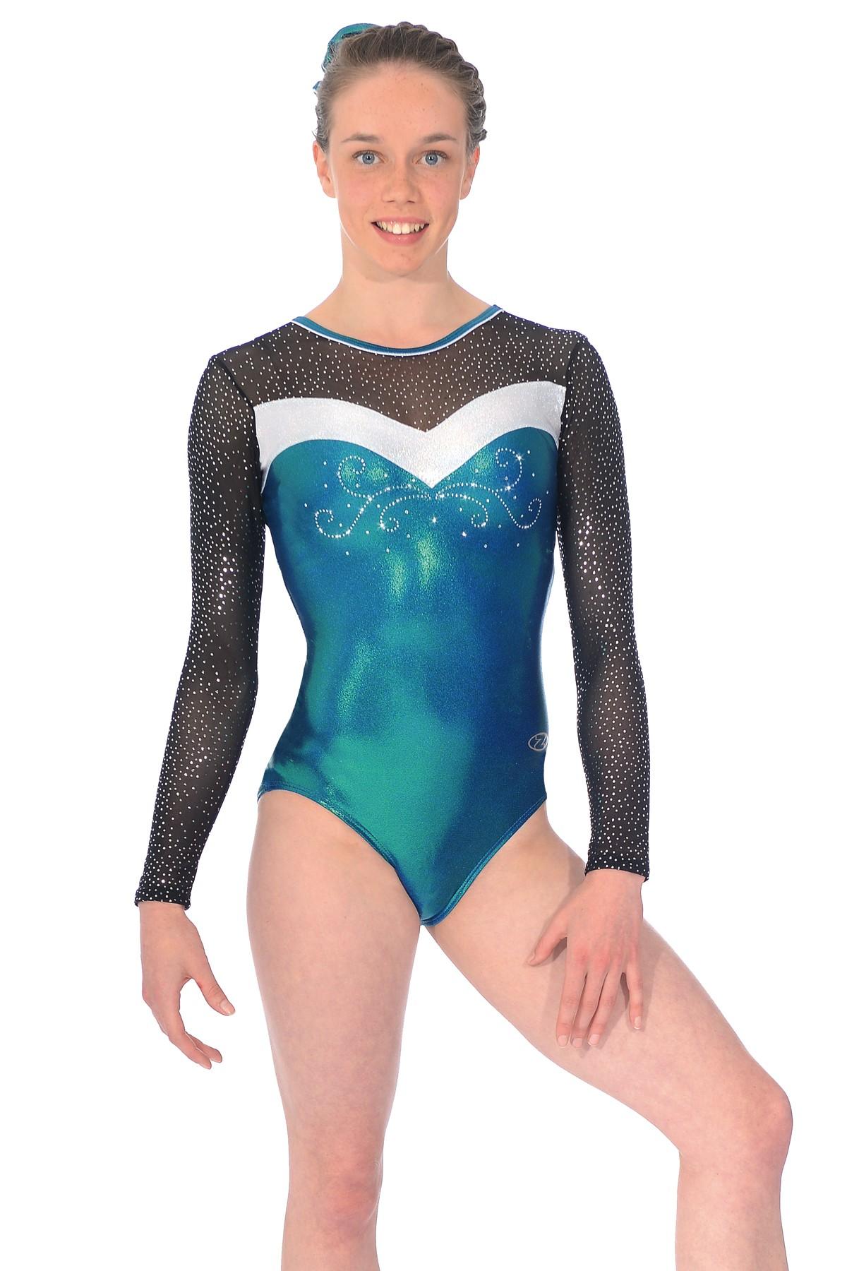 457083741 Gymnastic Costumes Uk   Lycra And Foil Hologram Sleeveless Gymnastic ...