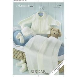 Sirdar Snuggly 4 ply Baby Pattern 1576