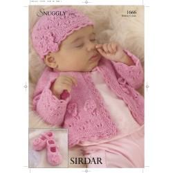 Sirdar Snuggly 4 Ply Baby Pattern 1666