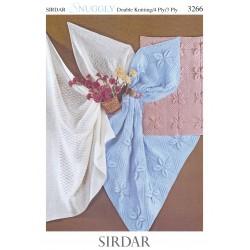 Sirdar Snuggly 3 Ply/4 Ply/DK Baby Pattern 3266