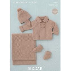 Sirdar Snuggly 4 ply Baby Pattern 4507