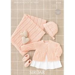 Sirdar Snuggly 4 ply Baby Pattern 4508