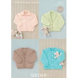 Sirdar Snuggly 4 ply Baby Pattern 4512