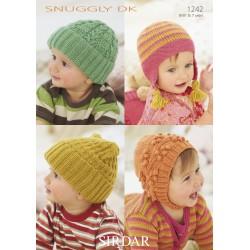 Sirdar Snuggly DK Baby Hats Pattern 1242