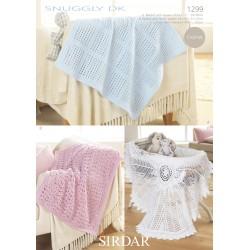 Sirdar Snuggly DK Baby Blanket Pattern 1299
