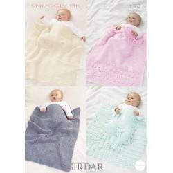 Sirdar Snuggly DK Baby Blanket Pattern 1362