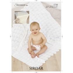 Sirdar Snuggly DK Baby Blanket Pattern 1710