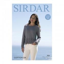 Sirdar Cotton DK Ladies Pattern 7824