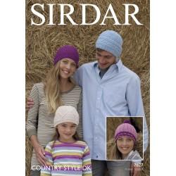 Sirdar Country Style DK Ladies Pattern 7827