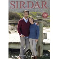 Sirdar Harrap Tweed Chunky Ladies Pattern 7848