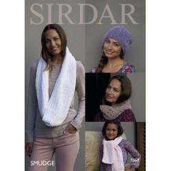 Sirdar Smudge Ladies Pattern 7868