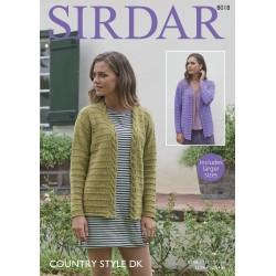 Sirdar Country Style DK Ladies Pattern 8018